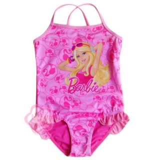 Girls Kids Barbie Princess Swimsuit Bathing Suit Swimming Costume 3 4 Years