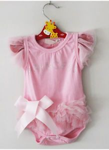 1pcs Kid Baby Girl Princess Short Top Suit Dress Costume Cloth Clothing 0 18M