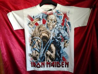 Iron Maiden White Concert Shirt Metallica Megadeath Black Sabath Motley Crue