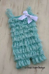 Baby Girl Boutique Clothing Lace Petti Romper Birthday Girl Outfit 18 24mo 2T