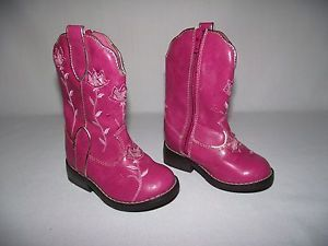 Circo Pink Cowboy Cowgirl Boots 5 Western Pageant Costume Toddler Girls Flowers