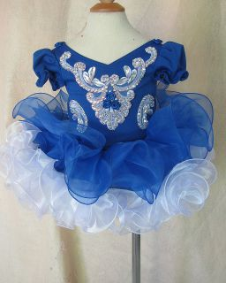National Infant Toddler Baby Kids Girl's Pageant Prom Dress Clothing 1 2T G024