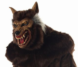 Ultra Deluxe Werewolf Mask Adult Wolfman Halloween Scary Spooky Latex