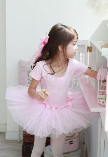 Girls Party Dance Ballet Tutu Dress Costume 3 8 T Pink Leotard Pettiskirt