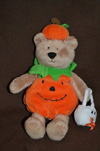 VHTF Koala Baby Baby's First Halloween Pumpkin Costume Teddy Bear Lovey Plush