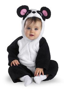 Panda Bear Costume Infant Toddler Baby Childs Kids Halloween 12 18 Months New