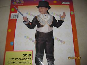 Great Baby Toddler Kids Boy Girl Black Magician Hallowin Costume 2 4T 2 Pcs