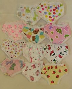 "3 Pair Print Panties Fit 15"" Bitty Baby Doll Clothes"