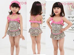 Girl Baby Tankini Beach Swimsuit Bather 2 7Y Swimwear Bikini Swimming Costume