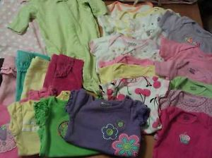 Cute 40 Piece Newborn Baby Girl Clothing Lot Pants Sleepers Bows Onesies