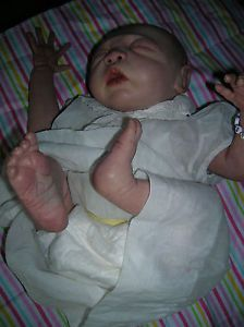 Reborn Preemie Baby Doll with Antique Clothing