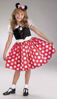 Minnie Mouse Red White Girls Costume Polka Dot Mascot