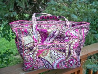 Vera Bradley Get Carried Away Tote Bag XL Luggage Travel Extra Large Beach Baby