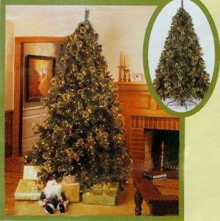 9 5' Pre Lit Cascade Artificial Christmas Tree 1800 Lts