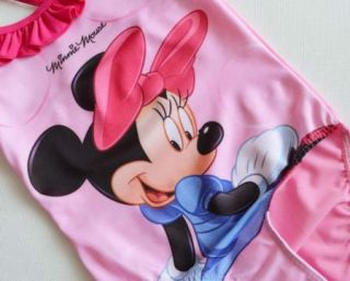 Girls Baby Minnie Mouse Bikini Swimsuit Swimwear Bathers 2 9Y