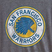New Mens Vintage NBA San Francisco Warriors Tri Blend T Shirt Golden State