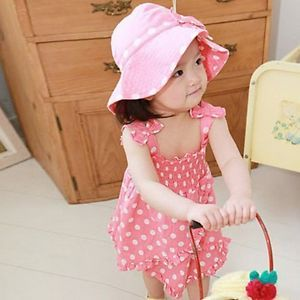 3pc Kid Baby Girl Dress Braces Skirt Pant Hat Set Outfit Clothes Skirt 0 1y TY6S