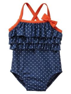 Baby Gap Girl Ruffle Dot One Piece Swimwear New with Tags