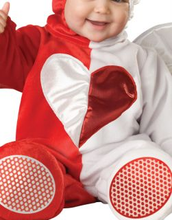 Cute Red White Angel Devil Here Comes Trouble Infant Baby Halloween Costume M