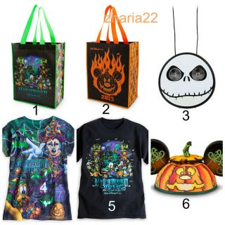 Disney Parks Halloween 2013 Shirt Tee Tote Bag Costume Trick Treat Mickey Ears