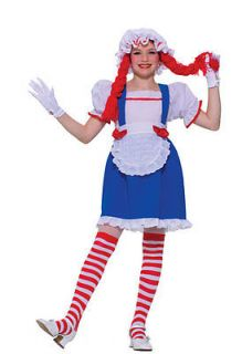 Raggedy Ann Rag Doll Girl Kids Halloween Costume