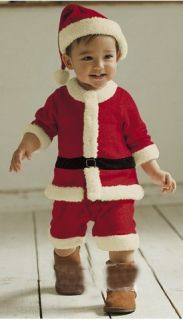 Baby Boys Girls Christms Xmas Santas Party Wear Suit Costume Dress Outfits Sets