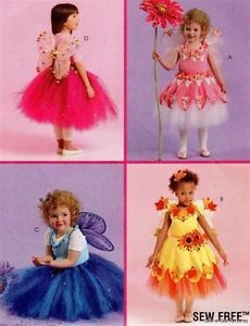 McCalls 5950 Pattern No Sew Baby Toddler Fairy Costume Tutu Dress Wings 1 3