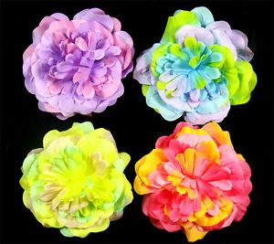 "4 Pcs Baby Girl Toddler Hair Flower Colorful Bow Clip 4"" 7C1"
