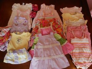 Huge 18 Piece Lot of Newborn 0 3M Spring Summer Baby Girl Clothes Dresses