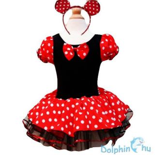 Kids Girls Baby Toddler Disney Minnie Mouse Party Costume Ballet Tutu Dress 6 7