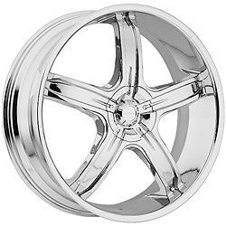 26 inch Akuza Lever Chrome Wheels Rims 5x135 F150 Expedition Navigator 97 03