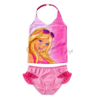 Girls Princess Barbie Rapunzel Kid 2pc Tankini Swimsuit Bathing Swimwear Sz 2 10