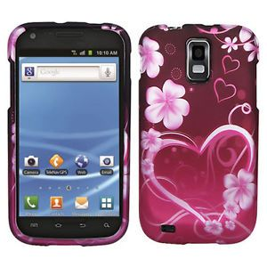 Purple Love Hard Case Cover Samsung Galaxy S2 T989 Hercules T Mobile Accessory