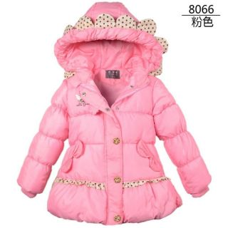 Baby Girls Kids Cotton Coat Winter Jacket Hoodies Snowsuit 4 5years PK055 120