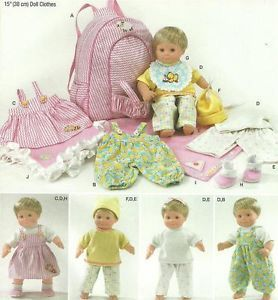 "15"" Baby Doll Clothes Carrier Blanket Baby Alive Cabbage Patch Pattern 1952"