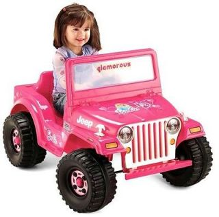New Fisher Price Power Wheels Barbie Jeep Battery Powered Ride on 1 Seater
