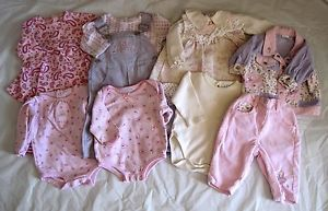 Baby Infant Girl Clothing Lot 10 Pcs Sz 3 6M Dress Onesies Pants REDUCED Price