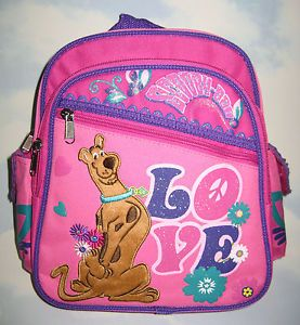 "Warner Bros Scooby Doo 10 5"" Mini Backpack Bags Girls Kid Toddler Pink Gifts"