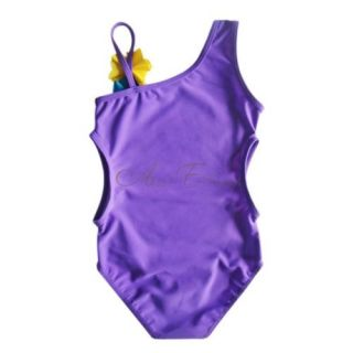 Girl Kid Ariel Mermaid Monokini Swimwear One Shoulder Swimsuit Bathing Sz 5T