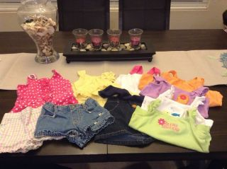 Gymboree Lot of Baby Girl Clothes Size 6 12 Months 10 Pieces