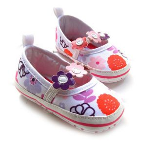 Sunflower Dress Cute Mary Jane Kids Infant Baby Prewalker Girls Shoes 3 6M S133