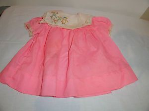 Vintage Baby Girl's Clothes Pink Dress with White Collar