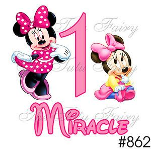 Big Little Baby Minnie Mouse Birthday Personalized Shirt Name Age 1st 2nd 3rd 4T