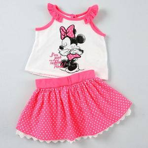 Disney 18 Months Minnie Mouse Tank Skirt Set Baby Girl Clothes Summer Outfit