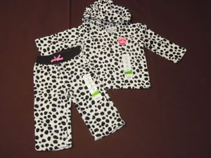 Jumping Beans Baby Girl 12 Months Fall Winter Outfit Sets Fleece Clothes
