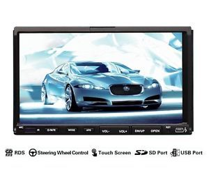 Double 2 DIN 7inch in Dash Touch Screen Car Stereo DVD CD  MP4 Player Radio