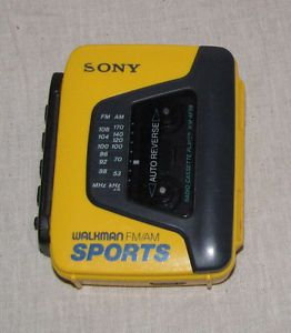 Sony Walkman Am FM Sports Radio Cassette Player w Auto Reverse