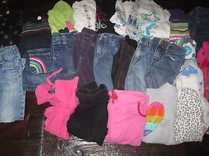 Huge Used Toddler Girls 4T 5T Shirts Jeans Outfits Clothing Lot
