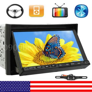 "Double 2 DIN 7"" in 800x480 Car Stereo DVD Player SWC Radio Bluetooth iPod USA"