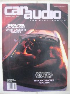 January 1990 Car Audio and Electronics Magazine Rock Concert Realism CD Changers